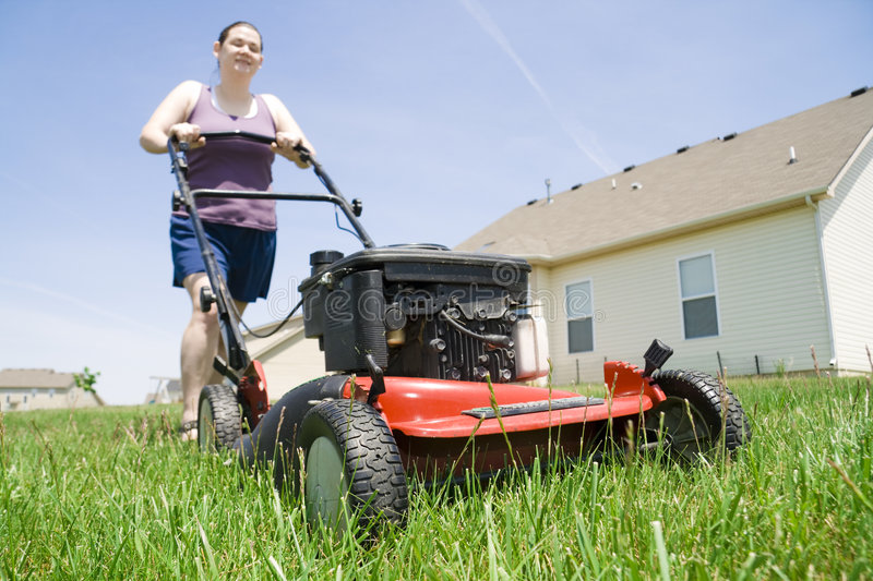 Yard work stock photography