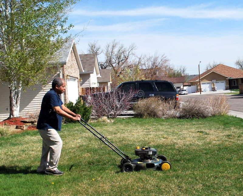Yard work. stock photos