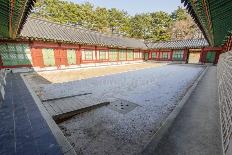 Yarda coreana tradicional de la casa imágenes de archivo libres de regalías