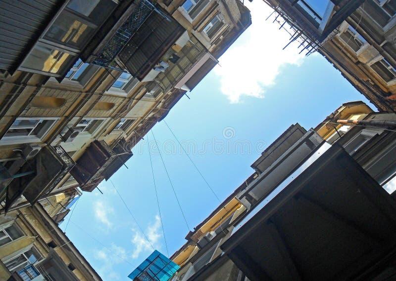 Yarda de la ciudad foto de archivo
