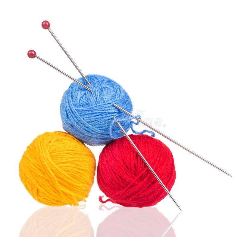 Yarda de lana brillante fotos de archivo