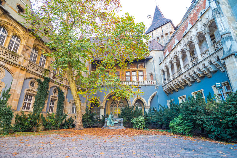 Yarda del castillo de Vajdahunyad fotografía de archivo libre de regalías