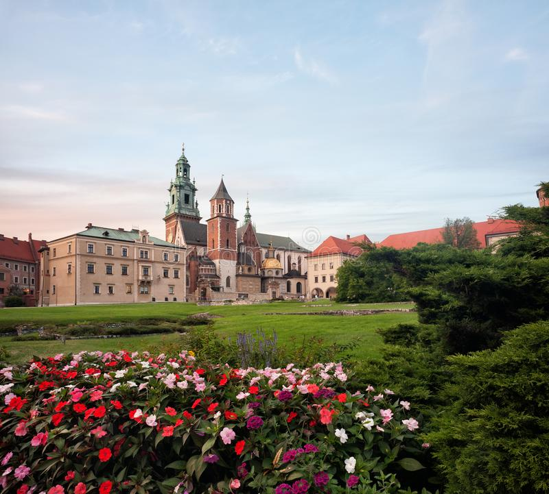 Yarda del castillo de Wawel fotografía de archivo