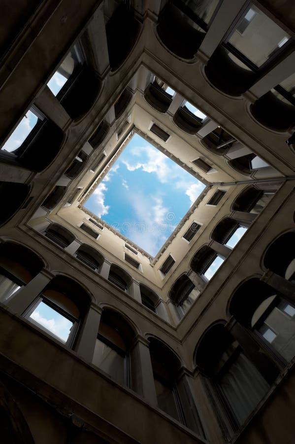 Yarda en Venecia, Italia. fotos de archivo