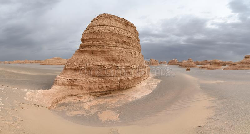 Yardang landform in Dunhuang stock image