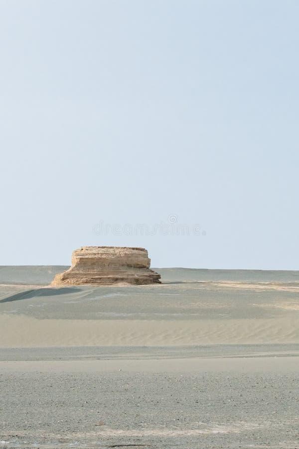 Yardang rocks in gobi desert in Dunhuang Yardang National Geopark, Gansu, China. Yardang rocks in gobi desert in Dunhuang Yardang National Geopark, Gansu royalty free stock photography