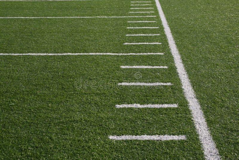 Yardlines de terrain de football image libre de droits