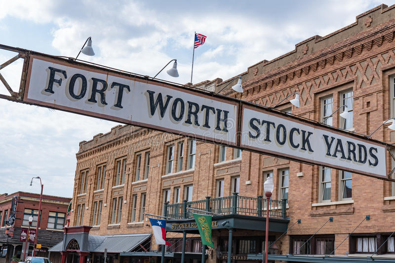 Yards courants de Fort Worth image stock