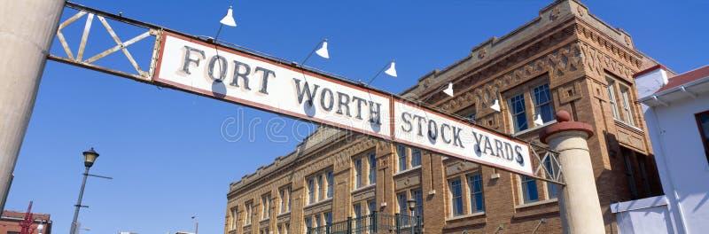 Yards courants, Fort Worth, le Texas images libres de droits