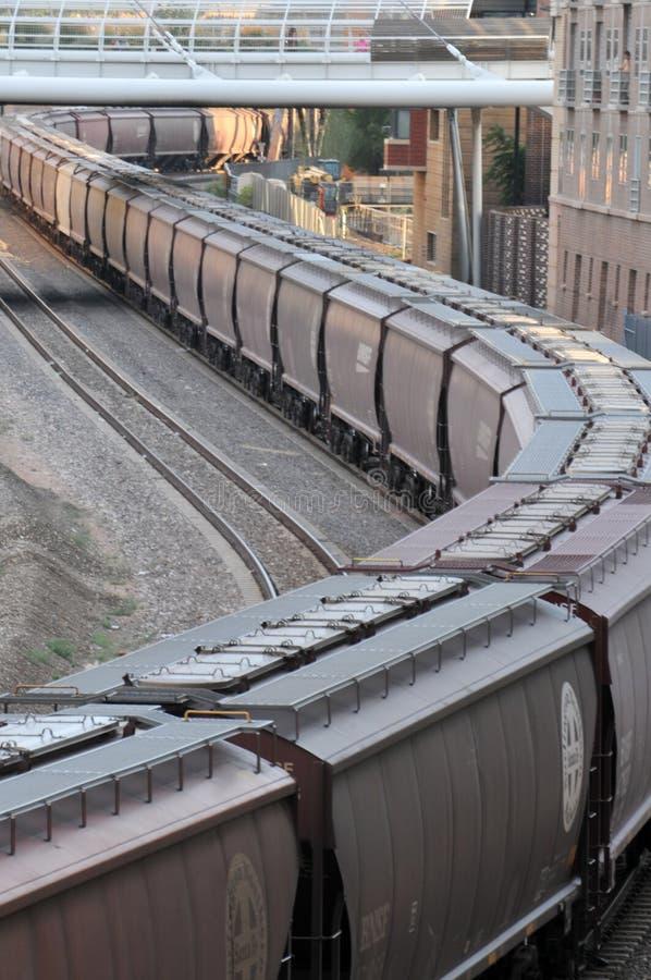 Yards de train de Denver photographie stock