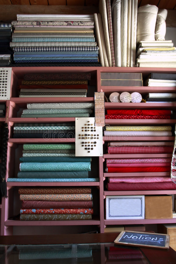 Download Yards Of Fabric And Notions Stock Photo - Image: 5772460
