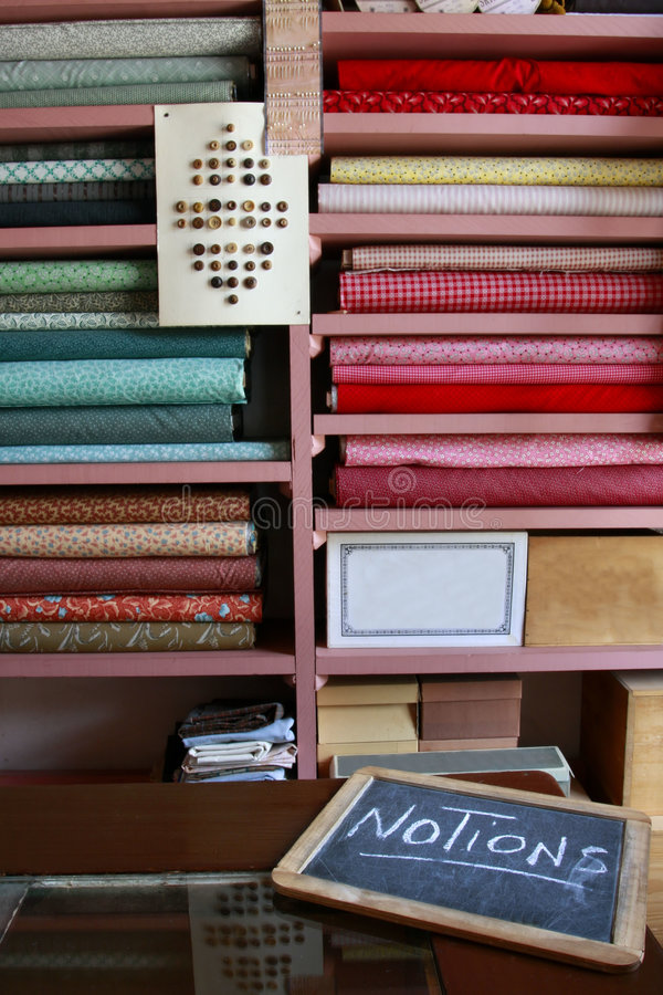 Yards Of Fabric And Notions Royalty Free Stock Photo