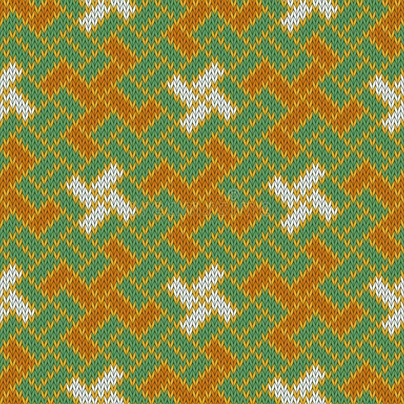 Yargawelzijn en wit kruis Slavisch naadloos wollen gebreid patroon vector illustratie