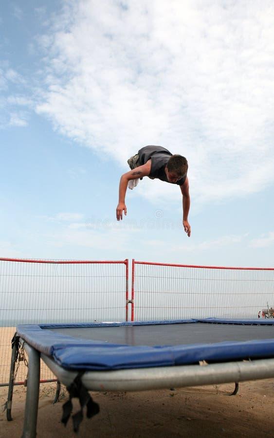 Yarmouth trampoline royalty free stock photo