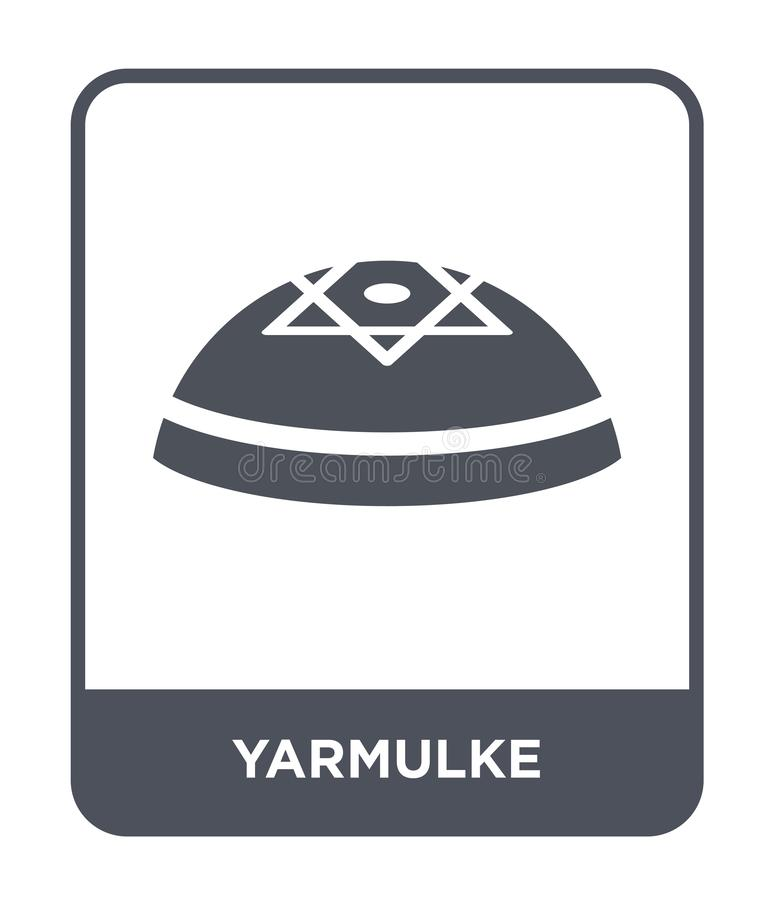 yarmulke εικονίδιο στο καθιερώνον τη μόδα ύφος σχεδίου yarmulke εικονίδιο που απομονώνεται στο άσπρο υπόβαθρο yarmulke διανυσματι απεικόνιση αποθεμάτων
