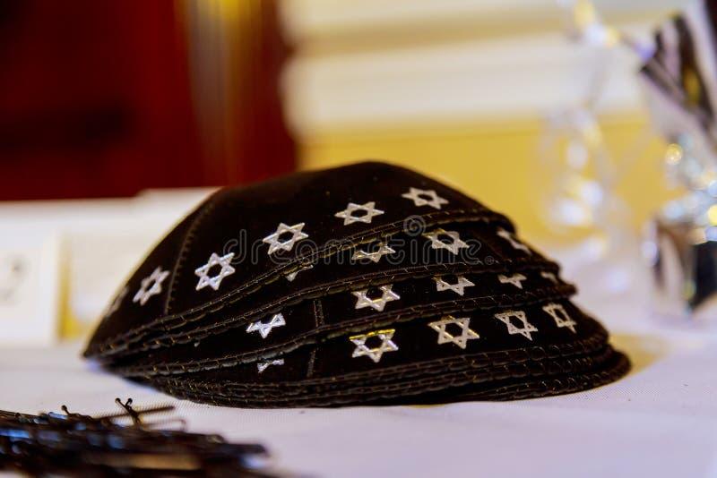 Yarmulke - headwear judaico tradicional, Israel imagens de stock royalty free