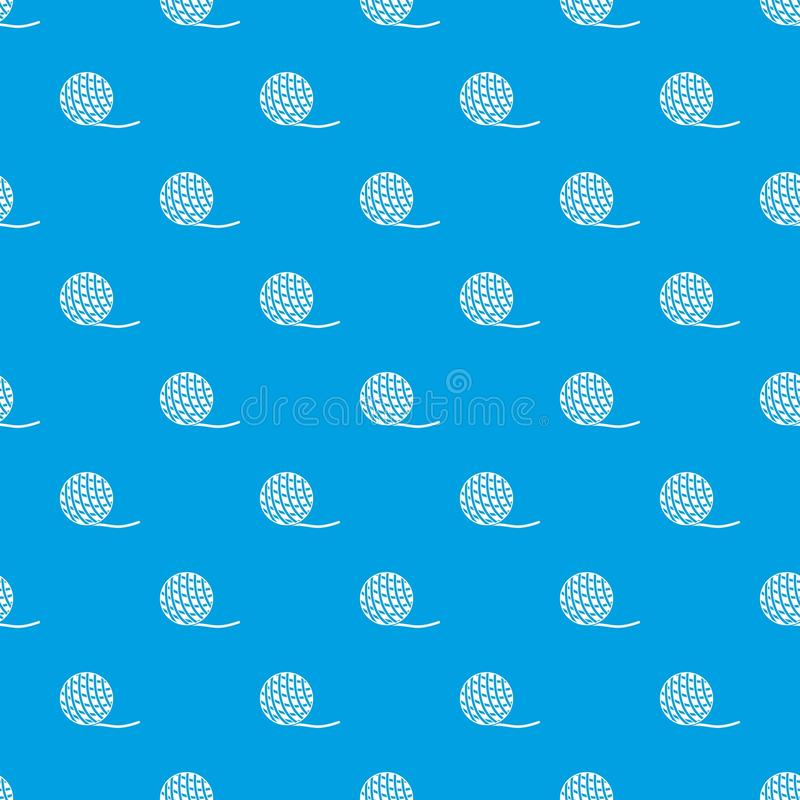 Yarn ball toy for cat pattern seamless blue royalty free illustration