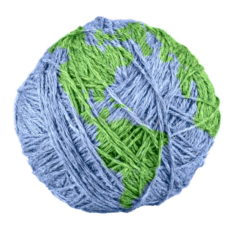 Yarn Earth stock photo
