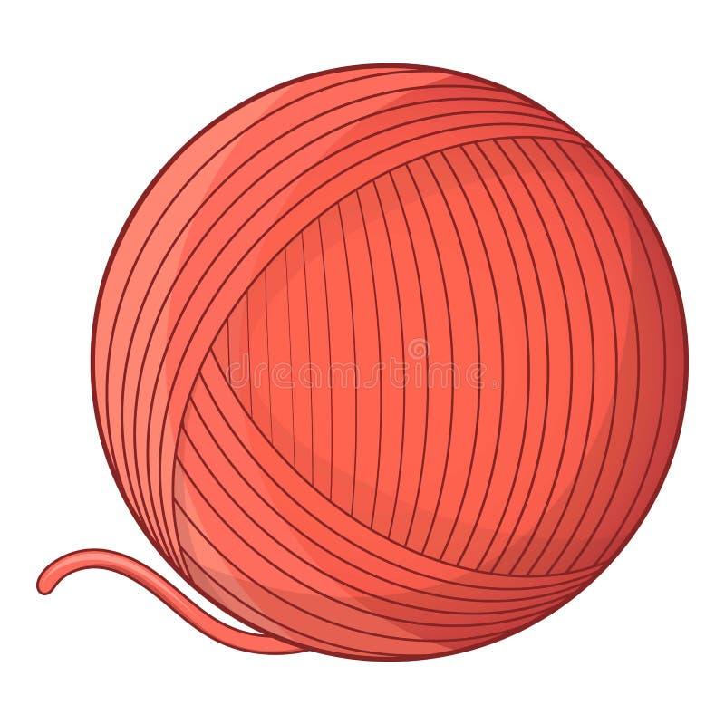 Yarn il giocattolo della palla per l'icona del gatto, stile del fumetto illustrazione di stock