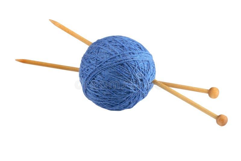 Yarn and knitting needles stock photo