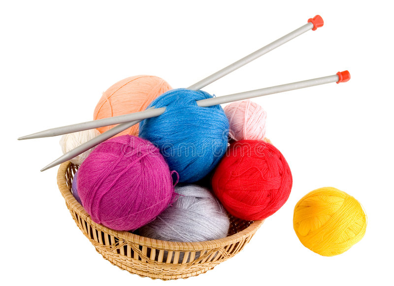 Yarn per lavorare a maglia fotografia stock libera da diritti