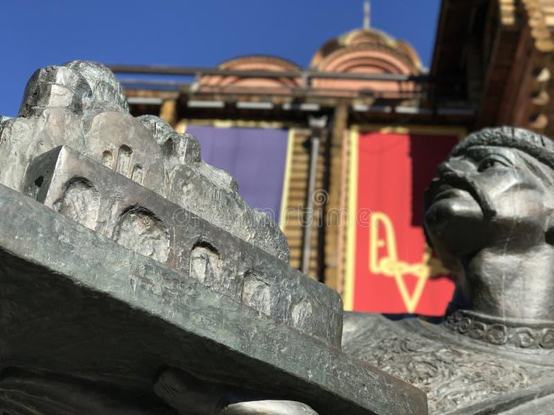Yaroslav het Wijze Monument stock afbeelding