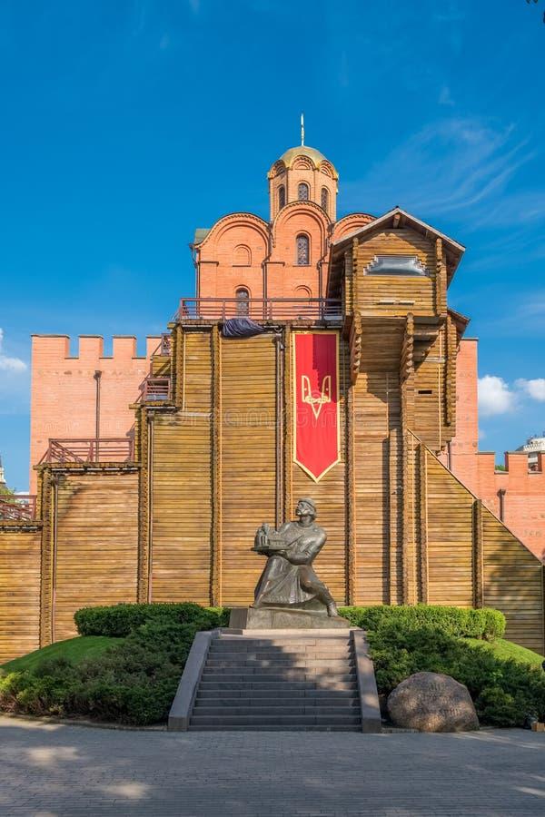 Yaroslav Wise-monument voor de Gouden Poorten in Kiev royalty-vrije stock foto