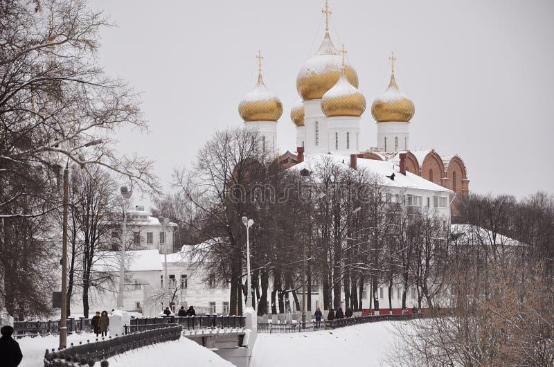 yaroslavl 假定大教堂的建筑 免版税图库摄影