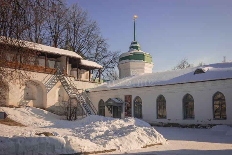 Yaroslavl Kremlin w śniegu w zimie, Rosja zdjęcia royalty free
