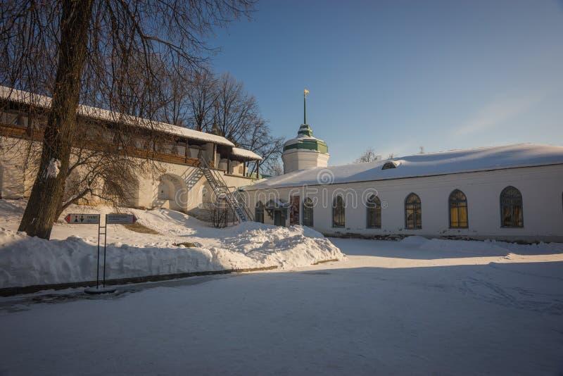Yaroslavl Kremlin w śniegu w zimie, Rosja fotografia royalty free