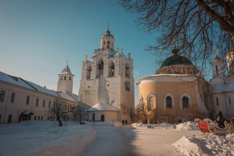 Yaroslavl Kremlin w śniegu w zimie, Rosja obraz stock