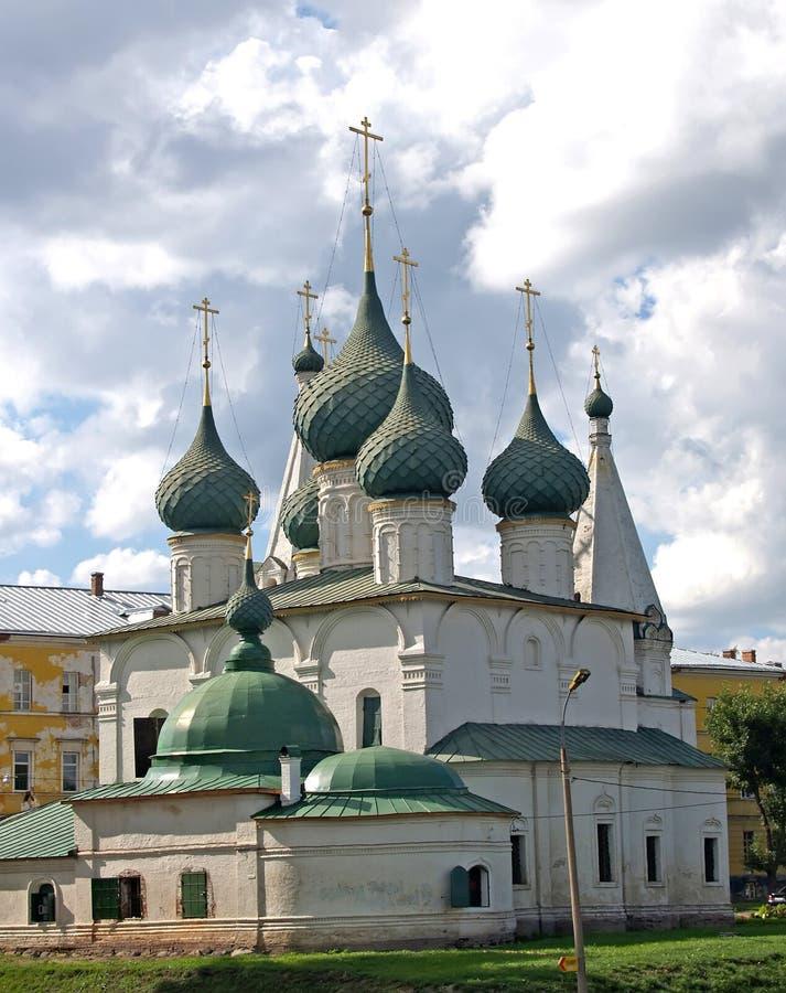 Yaroslavl, R?ssia Igreja da transfigura??o na cidade fotografia de stock royalty free