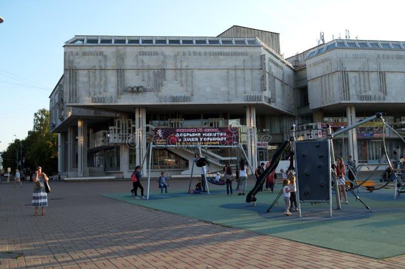 YAROSLAVL, RUSLAND - SEPTEMBER 07, 2018: marionettentheater royalty-vrije stock fotografie