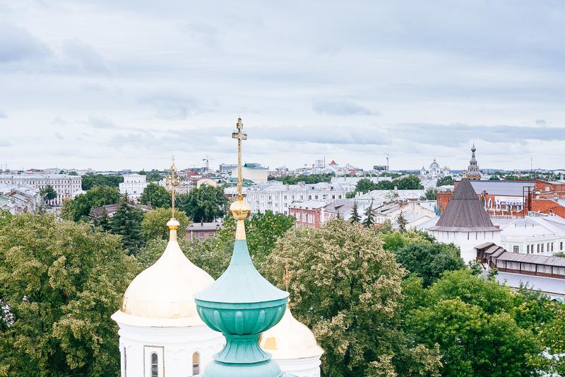 YAROSLAVL, RUSSLAND - 26. JUNI 2015: Yaroslavl ist eine der ältesten russischen Städte, gegründet im Jahrhundert XI Die Museum-Re lizenzfreie stockfotografie