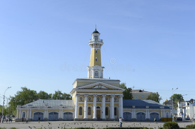 Yaroslavl. Sights of the city. river cruise on the Volga River. Russia. June 2014 r. Alexander Suvorov. cruise on the route Moscow - Nizhny Novgorod 2014 royalty free stock images