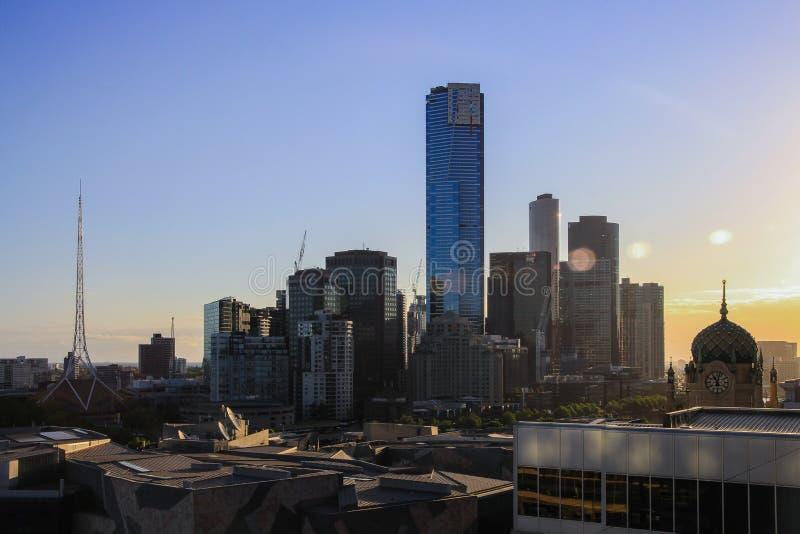 yarra όψης οριζόντων ποταμών της κεντρικής οικονομικό Μελβούρνης της Αυστραλίας στοκ φωτογραφία