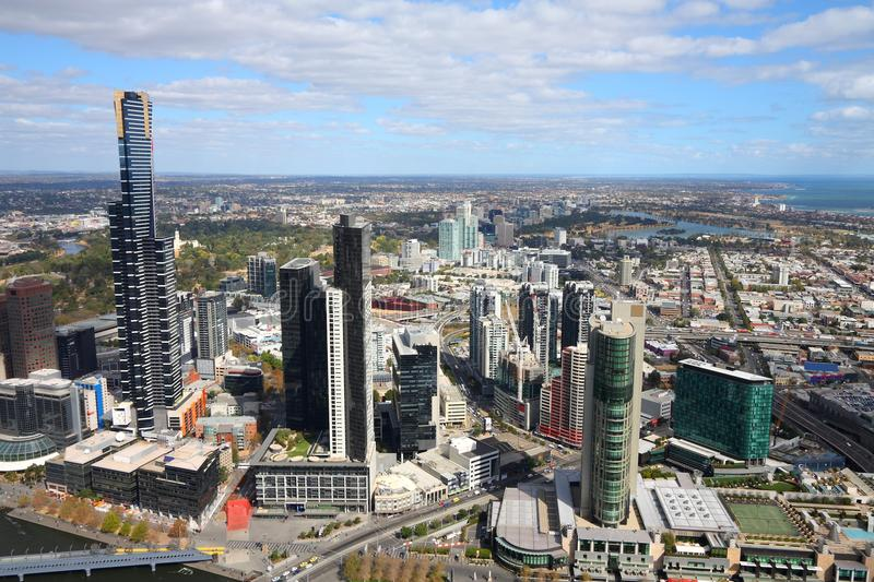yarra όψης οριζόντων ποταμών της κεντρικής οικονομικό Μελβούρνης της Αυστραλίας στοκ εικόνες με δικαίωμα ελεύθερης χρήσης
