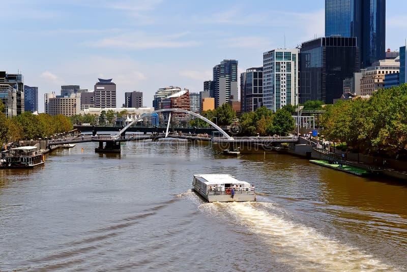 yarra реки melbourne города Австралии стоковое фото rf