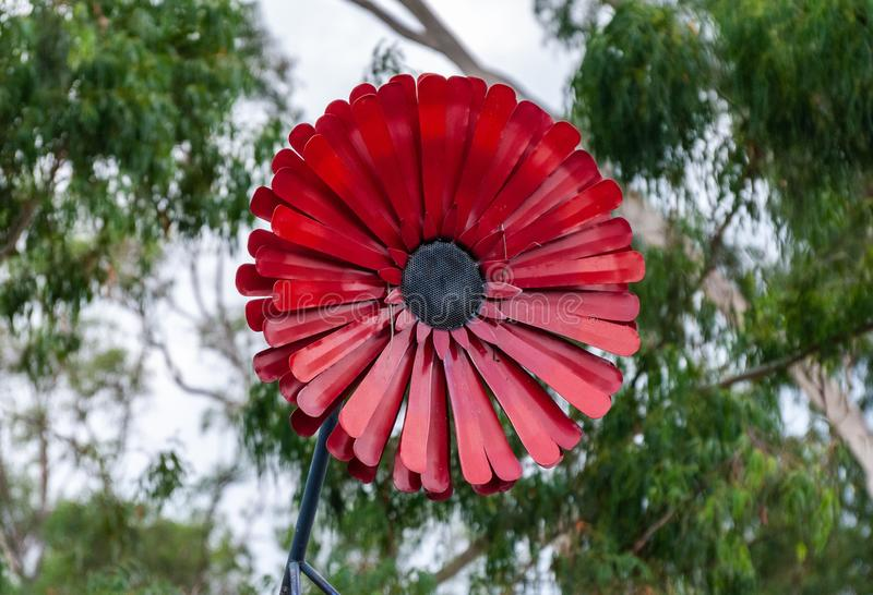 The Big Flower sitting atop a florist on Warburton Highway, Yarra Junction royalty free stock photo
