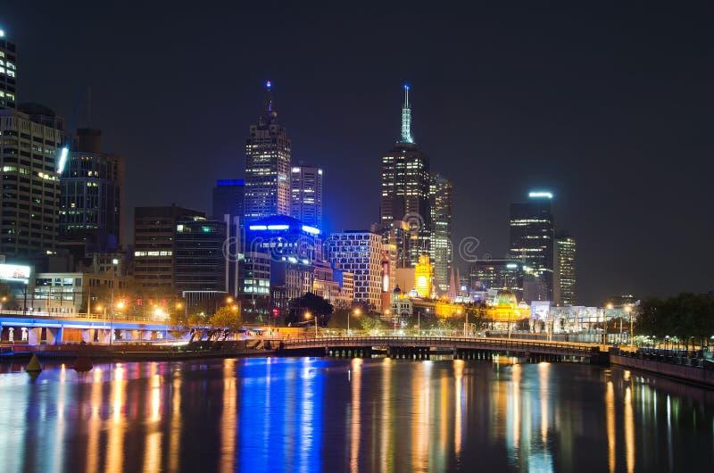 Download Yarra River, Melbourne City Skyline Stock Image - Image of evening, blue: 25211557