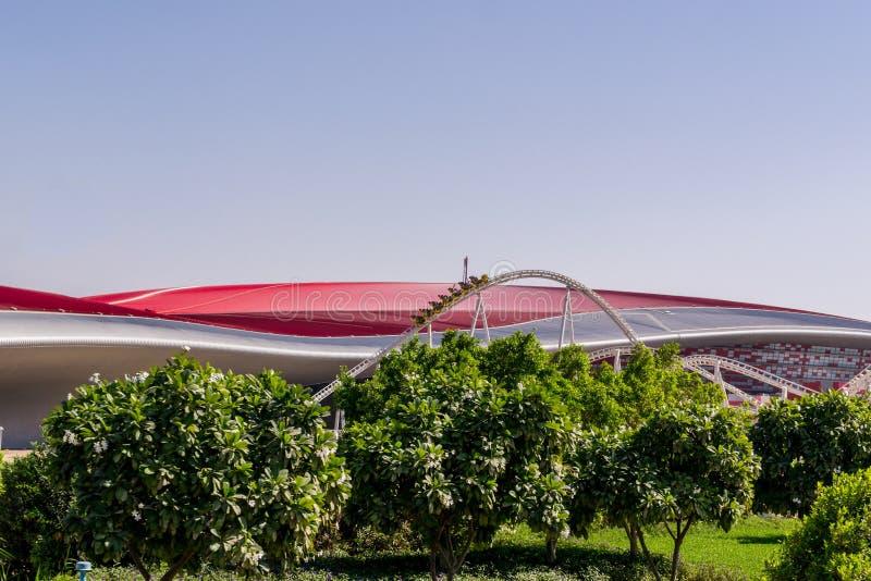 Yas Island/UAE Nov 14 2017: Ferrari world at Yas Island, Abu dhabi stock photography