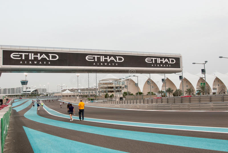 Yas Marina Circuit image stock