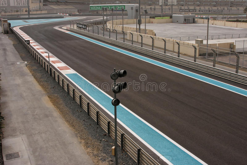 The Yas Marina Circuit stock photography