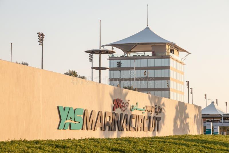 Yas Marina Circuit en Abu Dhabi photographie stock