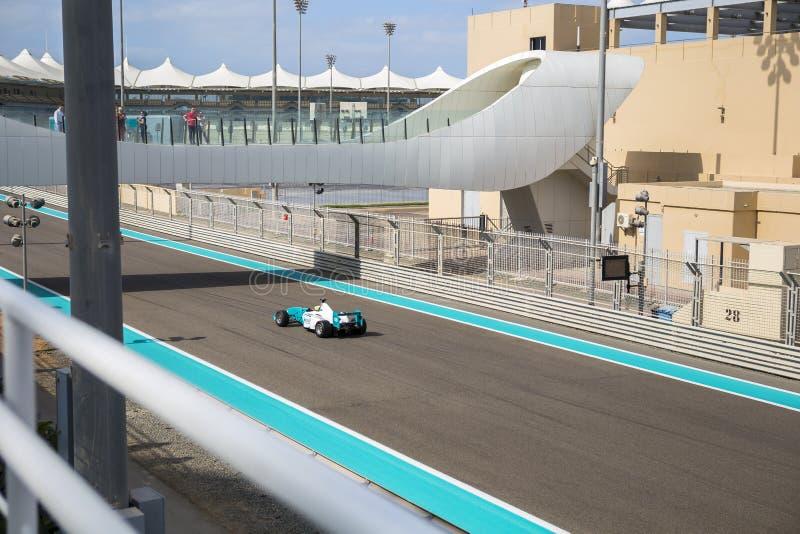 Yas Marina Grand Prix obwód na Styczniu 05, 2017 w Abu Dhabi, Zjednoczone Emiraty Arabskie obraz royalty free
