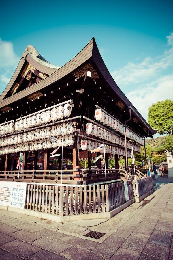 Yasaka Jinja em Kyoto em Japão fotografia de stock