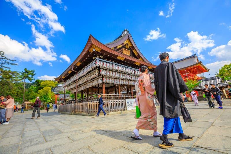 Yasaka-jinja a Kyoto fotografie stock libere da diritti