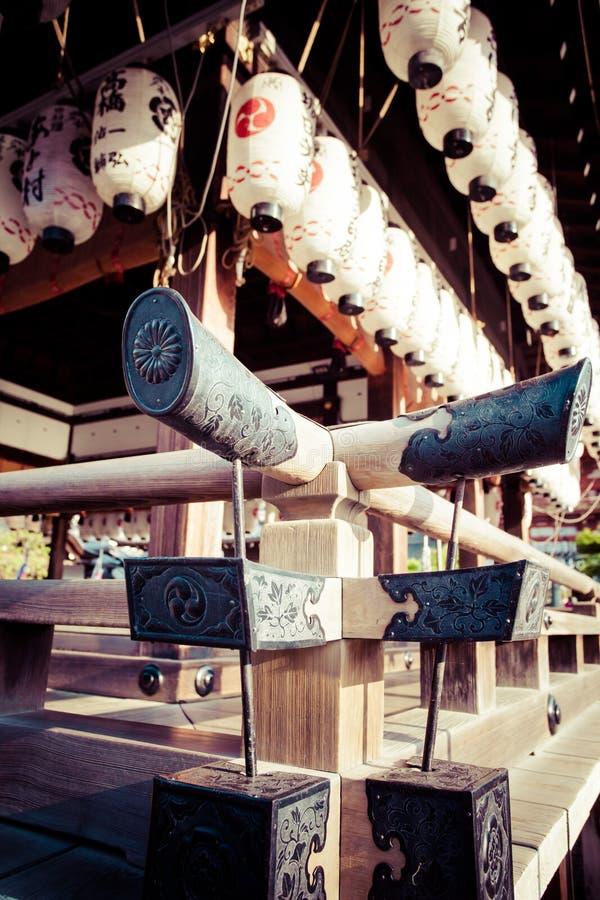 Yasaka Jinja in Kyoto in Japan stock foto's