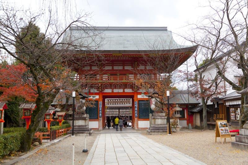 Yasaka Jinja in Kyoto, Japan royalty-vrije stock afbeelding