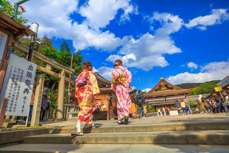 Yasaka Kyoto in primavera fotografia stock libera da diritti